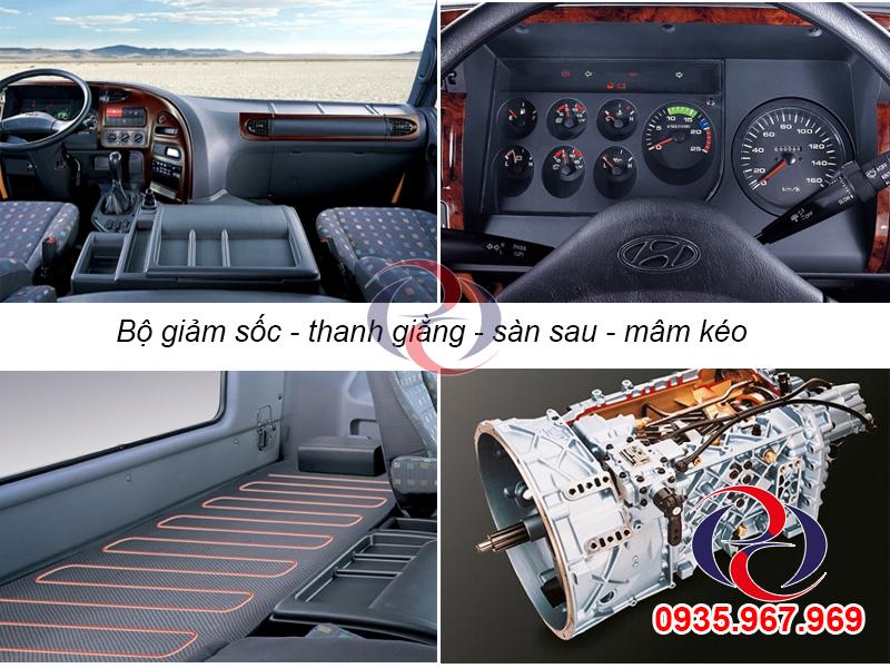 không gian nội thất xe Hyundai đầu kéo