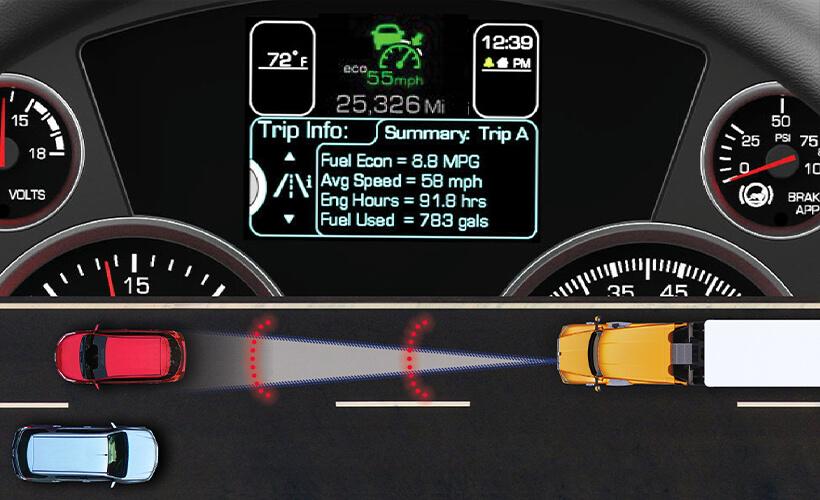 Hệ thống kiểm soát hình trình thích ứng (nguồn Kenworth trucks)